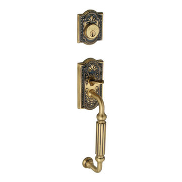 Grandeur Parthenon Double Cylinder Fluted Grip Exterior Handle Only - Keyed Alike