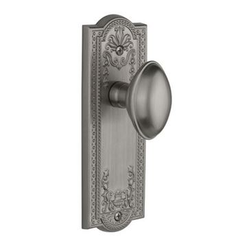 Grandeur Parthenon Double Dummy Interior Door Set With Eden Prairie Knob