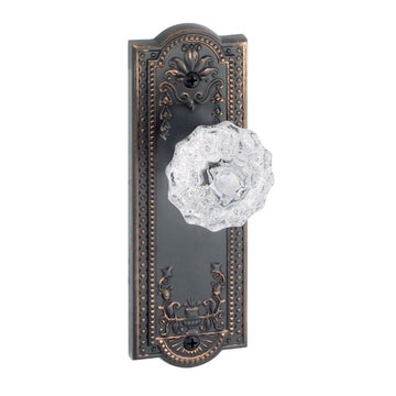 Grandeur Parthenon Privacy Interior Door Set With Crystal Fontainebleau Knob