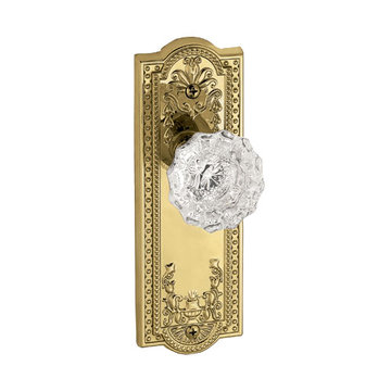 Grandeur Parthenon Privacy Interior Door Set With Crystal Versailles Knob