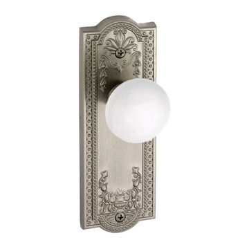 Grandeur Parthenon Privacy Interior Door Set With Hyde Park Knob