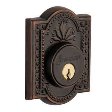 Grandeur Parthenon Single Cylinder Deadbolt - Keyed Differently