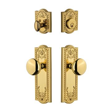 Grandeur Parthenon Single Cylinder Fifth Avenue Entry Set - Keyed Alike
