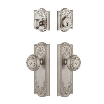 Grandeur Parthenon Single Cylinder Entry Set - Keyed Differently