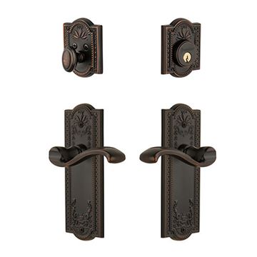 Grandeur Parthenon Single Cylinder Portofino Entry Set - Keyed Differently
