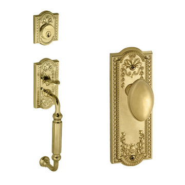 Grandeur Parthenon Single Cylinder Fluted Grip Thumblatch To Eden Prairie Knob Entry Set