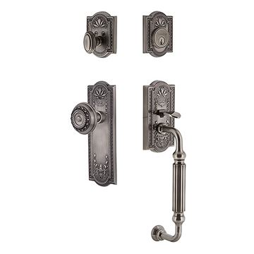 Grandeur Parthenon Single Cylinder Fluted Grip Thumblatch Entry Set