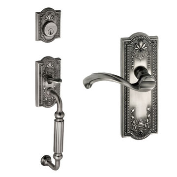 Grandeur Parthenon Single Cylinder Fluted Grip Thumblatch To Portofino Lever Entry Set