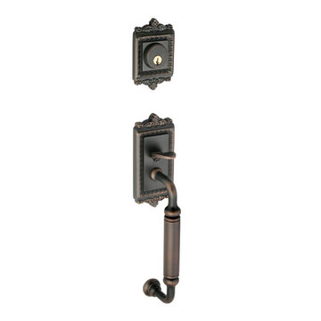 Grandeur Windsor C-Grip Double Cylinder Exterior Handle Only - Keyed Differently
