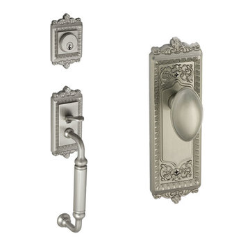 Grandeur Windsor C-Grip Thumblatch To Eden Prairie Knob Entry Set