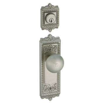 Grandeur Windsor Double Dummy Interior Door Set With Fifth Avenue Knob