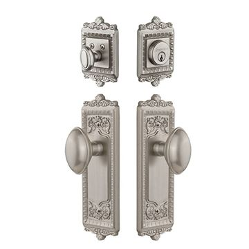 Grandeur Windsor Entry Door Set With Eden Prairie Knob - Keyed Differently