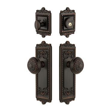 Grandeur Windsor Entry Door Set With Windsor Knob   Keyed Alike