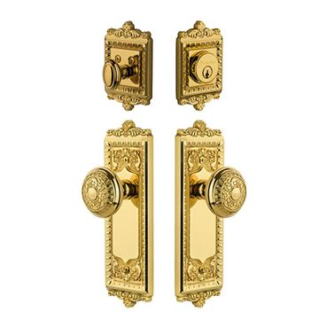Grandeur Windsor Entry Door Set with Windsor Knob - Keyed Differently