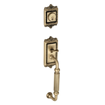 Grandeur Windsor Fluted Grip Double Cylinder Exterior Handle Only - Keyed Differently