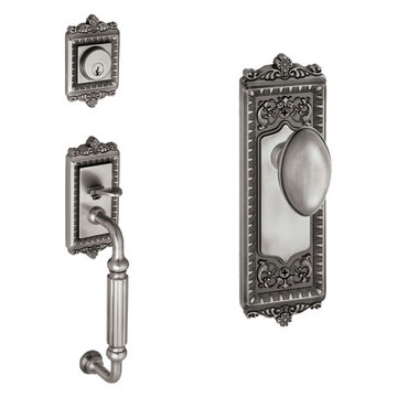 Grandeur Windsor Fluted Grip Thumblatch To Eden Prairie Knob Entry Set