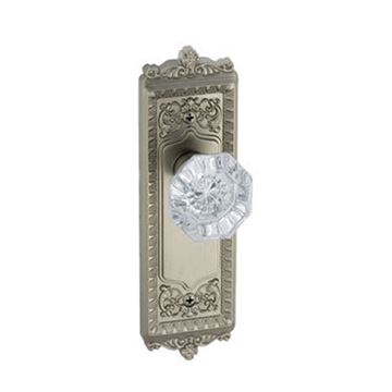 Grandeur Windsor Passage Interior Door Set With Crystal Chambord Knob