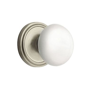 Nostalgic Warehouse Classic Passage Interior Door Set With White Porcelain Knob