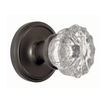 Nostalgic Warehouse Classic Privacy Interior Door Set With Crystal Knob