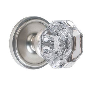 Nostalgic Warehouse Classic Privacy Interior Door Set With Crystal Waldorf Knob