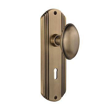 Nostalgic Warehouse Deco Privacy Homestead Door Set - Keyhole