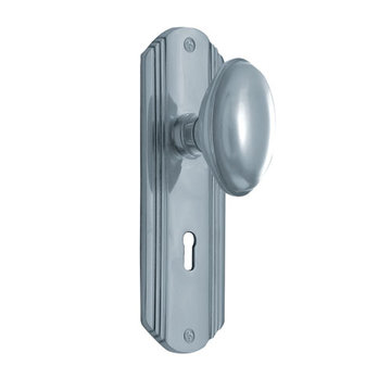 Nostalgic Warehouse Deco Single Dummy Interior Door Set With Homestead Knob - With Keyhole