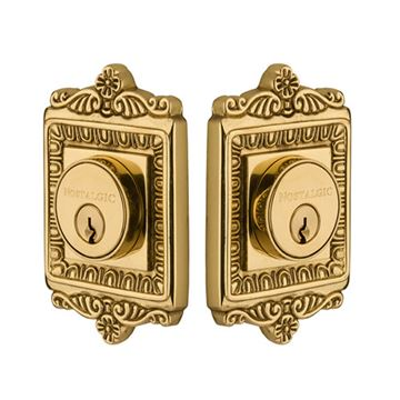 Nostalgic Warehouse Egg & Dart Double Cylinder Deadbolt - Keyed Differently