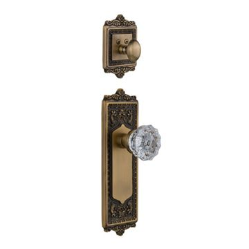 Nostalgic Warehouse Egg & Dart Interior Half Only With Crystal Knob