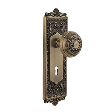 Nostalgic Warehouse Egg & Dart Passage Interior Door Set With Egg & Dart Knob - With Keyhole