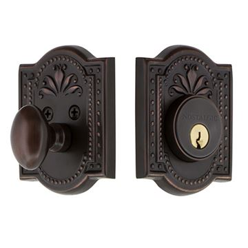 Nostalgic Warehouse Meadows Single Cylinder Deadbolt - Keyed Alike