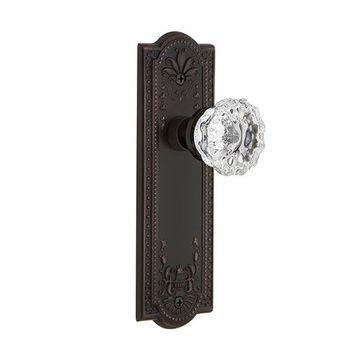 Nostalgic Warehouse Meadows Single Dummy Crystal Door Set - No Keyhole
