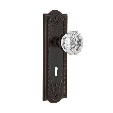 Nostalgic Warehouse Meadows Single Dummy Crystal Door Set - Keyhole