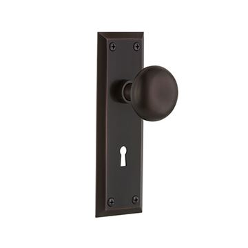 Nostalgic Warehouse New York Double Dummy Interior Door Set With New York Knob - With Keyhole