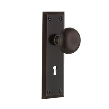 Nostalgic Warehouse New York Passage Interior Door Set With New York Knob - With Keyhole