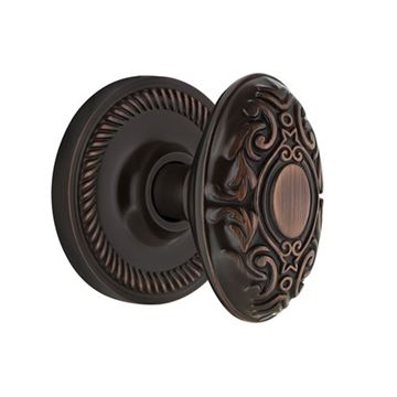 Nostalgic Warehouse Rope Double Dummy Victorian Knob Door Set
