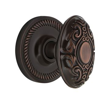 Nostalgic Warehouse Rope Single Dummy Victorian Knob Door Set