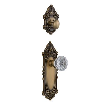 Nostalgic Warehouse Victorian Interior Half Only With Crystal Knob