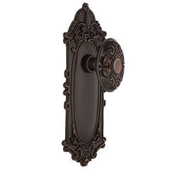 Nostalgic Warehouse Victorian Privacy Interior Door Set With Victorian Knob - No Keyhole