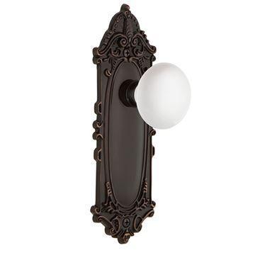 Nostalgic Warehouse Victorian Privacy White Porcelain Door Set