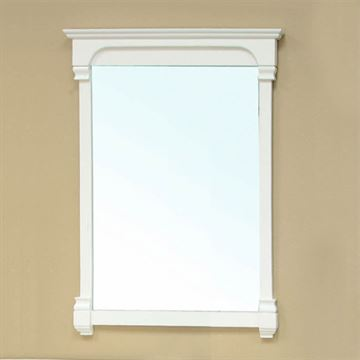 Bellaterra Home 24 Inch Cream White Vintage Molding Mirror