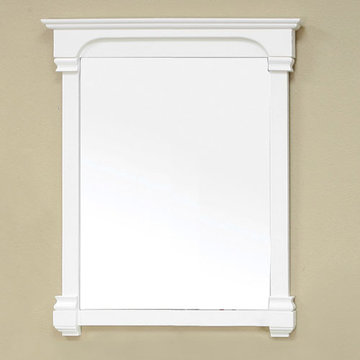 Bellaterra Home 36 Inch Cream White Vintage Molding Mirror
