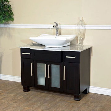 Bellaterra Home 40 Inch Single Vanity With Rectangle Ceramic Sink
