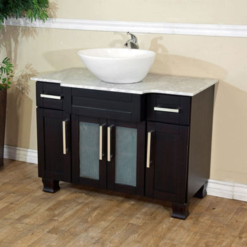 Bellaterra Home 40 Inch Single Vanity With Round Ceramic Sink