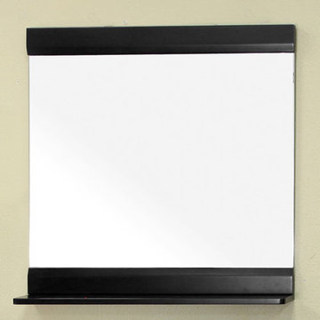 Bellaterra Home Black Wood Frame Mirror - 31 1/2 Inch X 32 1/2 Inch
