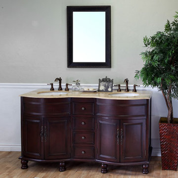 Bellaterra Home Bowed Double Sink Vanity