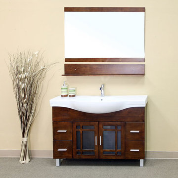 Bellaterra Home Bowed Modern Single Sink Vanity