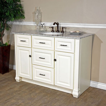 Bellaterra Home Braid Trim Single Sink Vanity