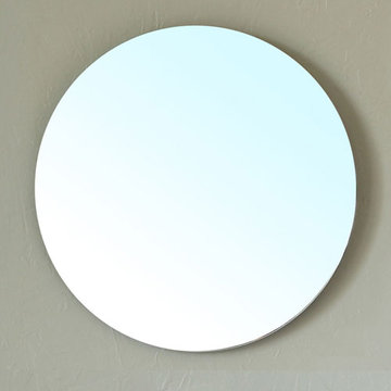 Bellaterra Home Circular Beveled Mirror