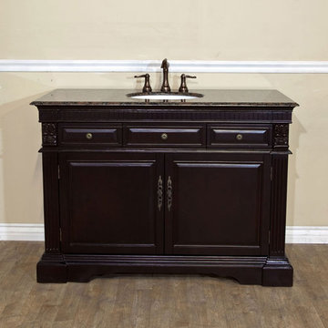 Bellaterra Home Classic Antique Dark Mahogany Single Sink Vanity