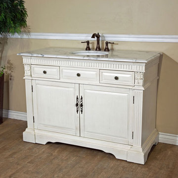 Bellaterra Home Classic Antique White Single Sink Vanity